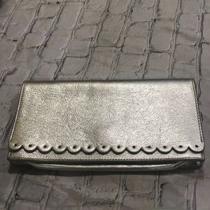 Banana republic clutch silver